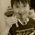 Ethan Earned a Medal!