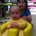 Emma and Bumbo